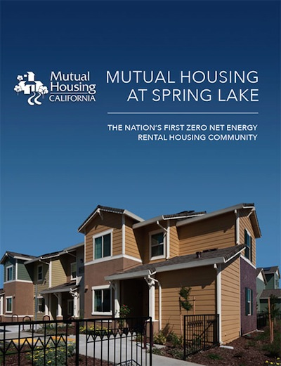 Mutual Housing at Spring Lake white paper cover art