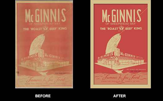 Vintage Restaurant Menu Restoration